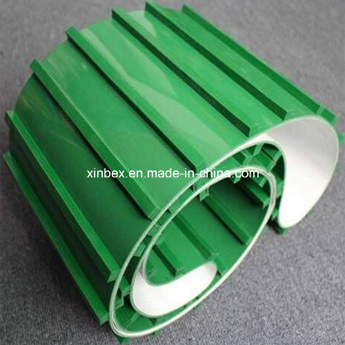 Incline Green Cleats Guides Manufacturer PVC Conveyor Belt