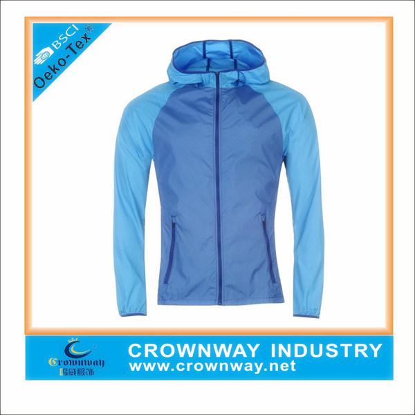 Wholesale Custom Men Light Weight Windbreaker Sports Running Jacket