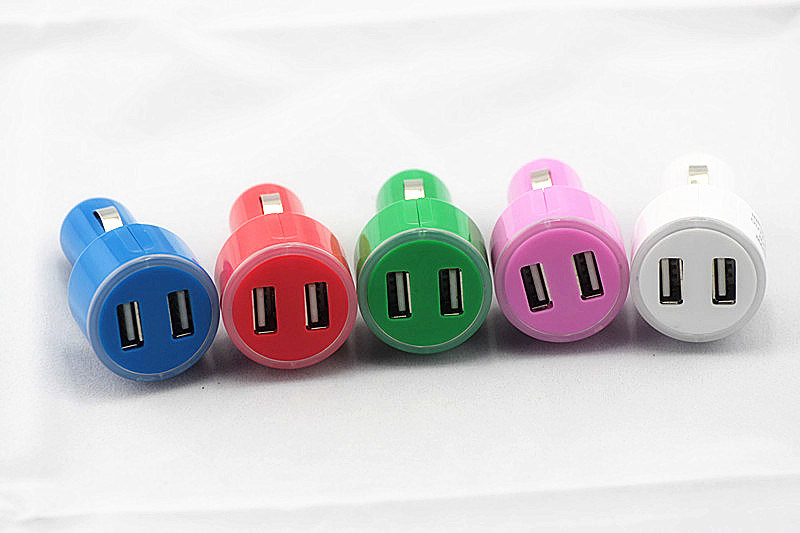 Dual USB Car Charger for iPhone/ Blackberry