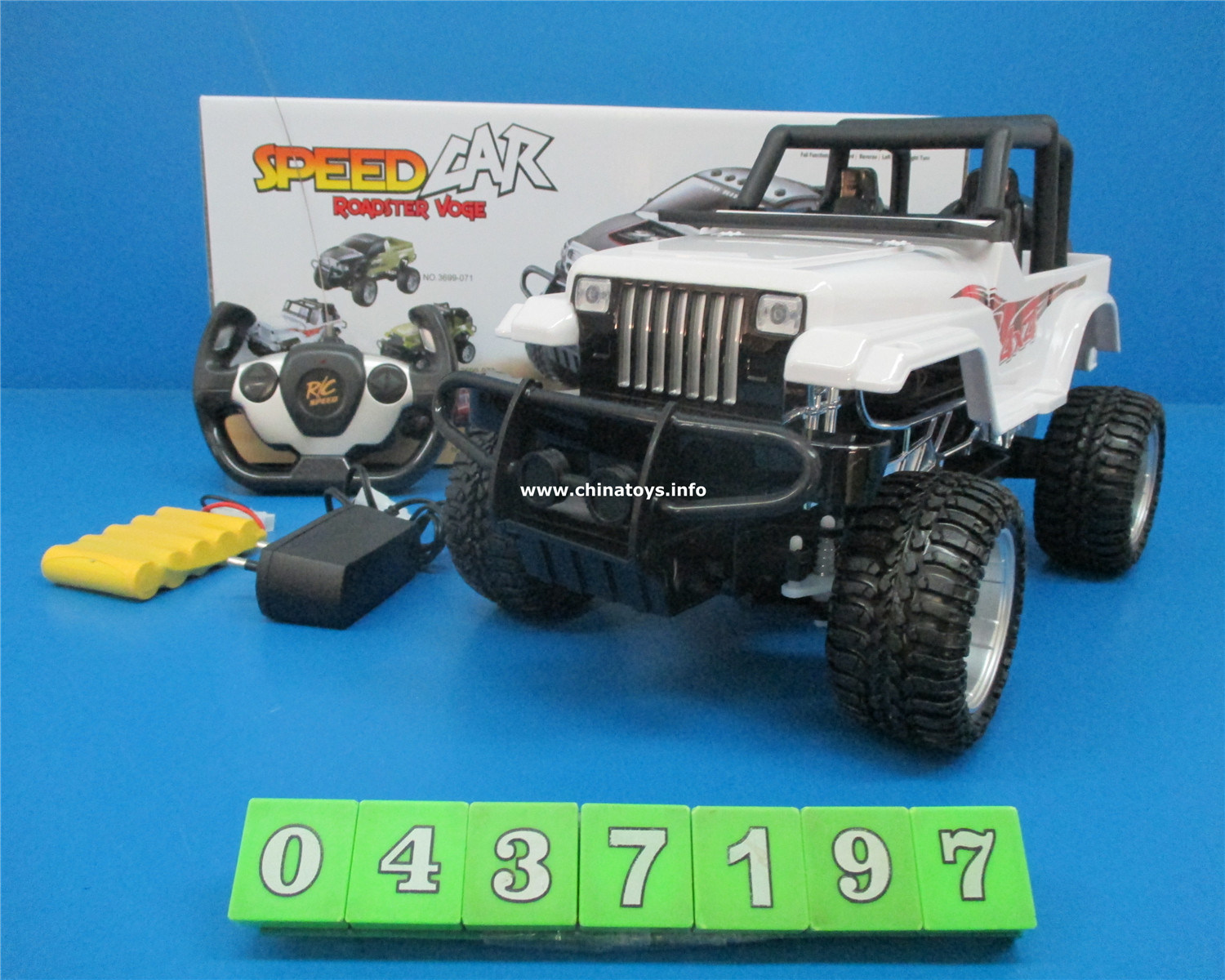 Newest Plastic RC Toy, 4CH Remote Control Toy Car (0437195)