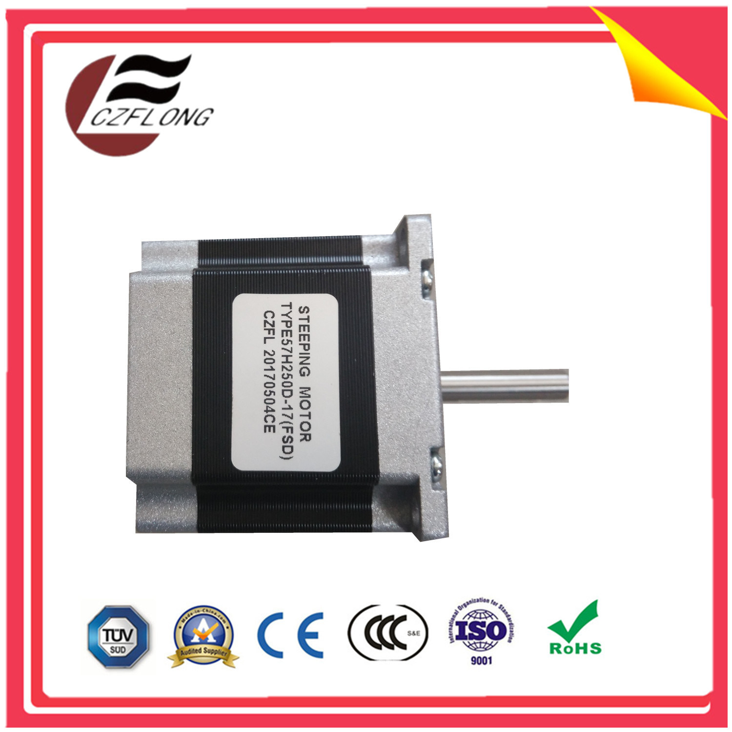 Customized NEMA24 Bygh Stepping Motor for CNC Sewing Machine