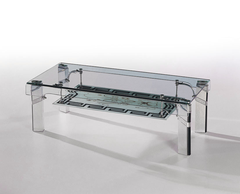 Hot Bent Glass Coffee Table 2237 China Coffee Table Metal Furniture