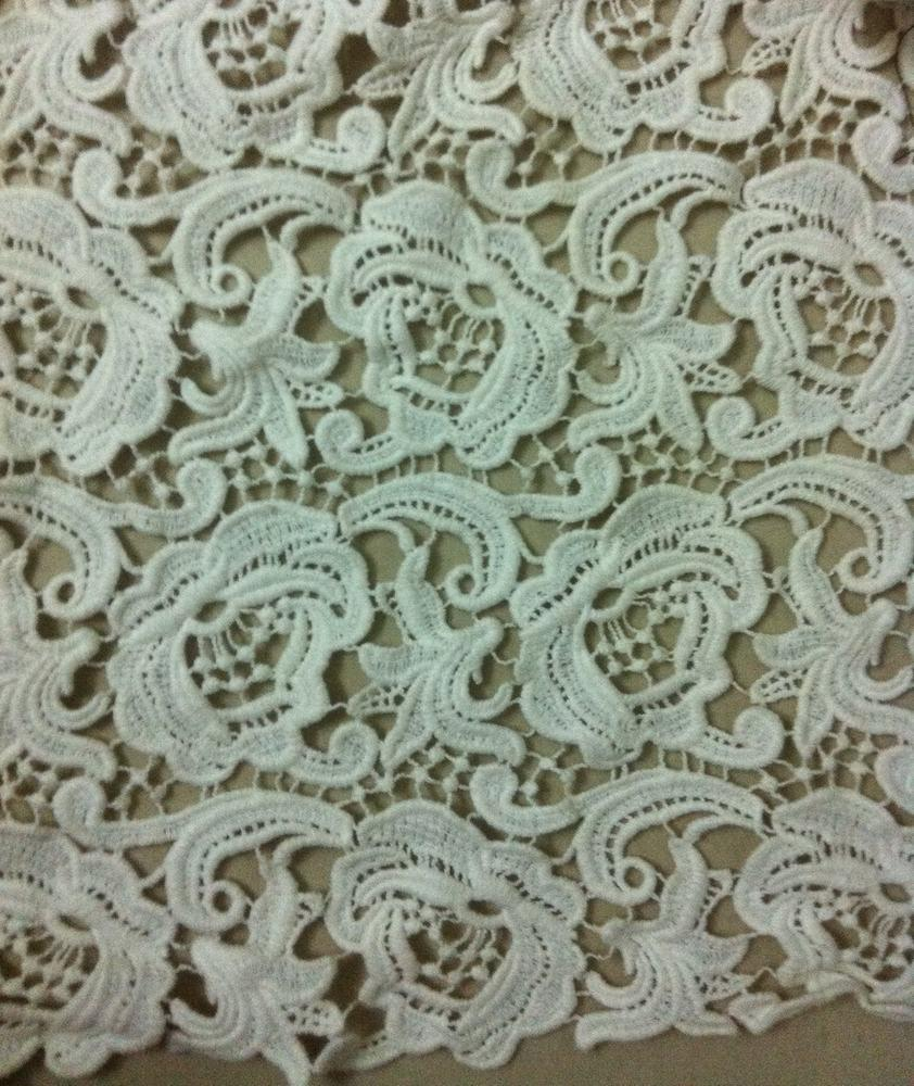 Fashion 100% Cotton Embroidered Fabric Lace for Garment Dress (BP-035)