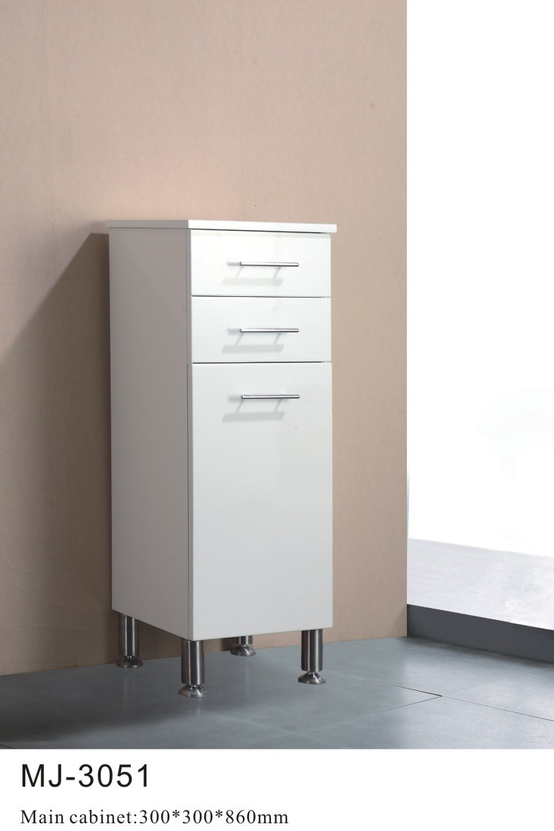 Pvc free standing liene cabinet mj 3051 china pvc for Free standing bathroom cabinets