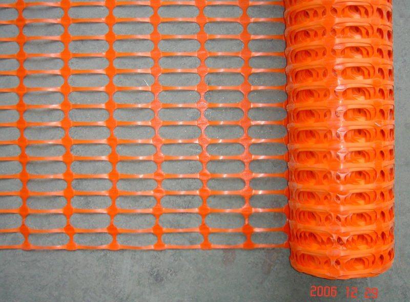 China orange plastic safety fence sj