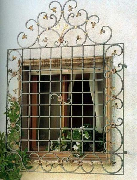 China wrought iron window grille
