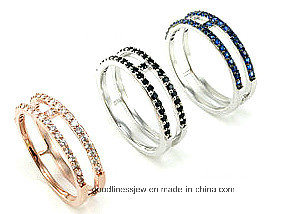 China Factory Silver Ring 925 Fashion Jewelry with Cubic Zircon R0115-2py