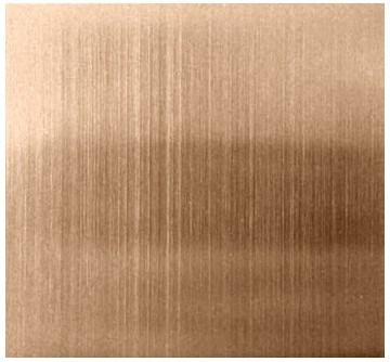 China Rose Gold Brushed Finishes Stainless Steel Sheet