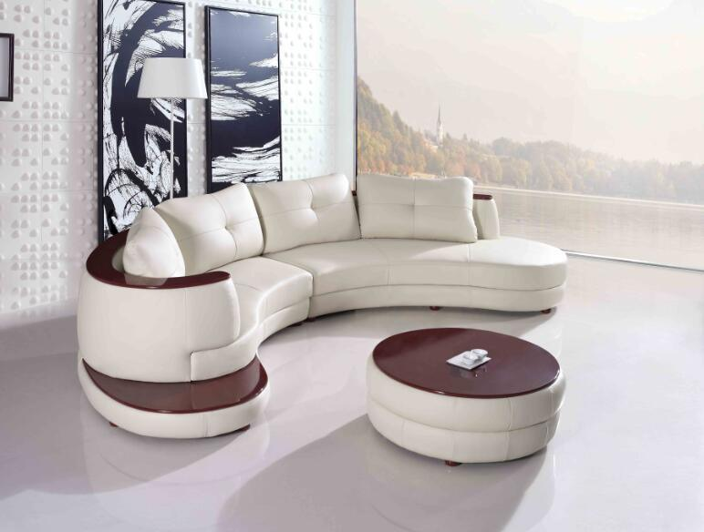 Modern Living Room Furniture Leather Sofa with Sectional L Shape