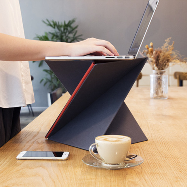 XL-Sized Foldable Laptop Lapdesk Table PC Stand Support