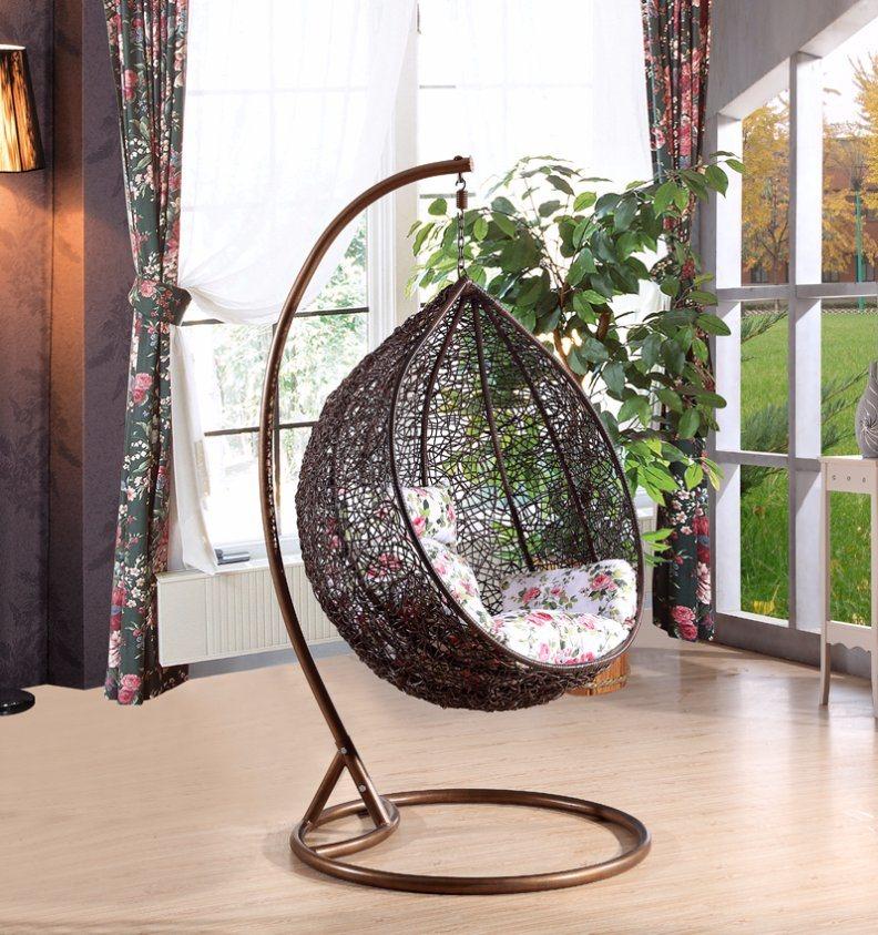 Modern Leisure Wicker Furniture Hanging Chair with Round Rattan (J811)