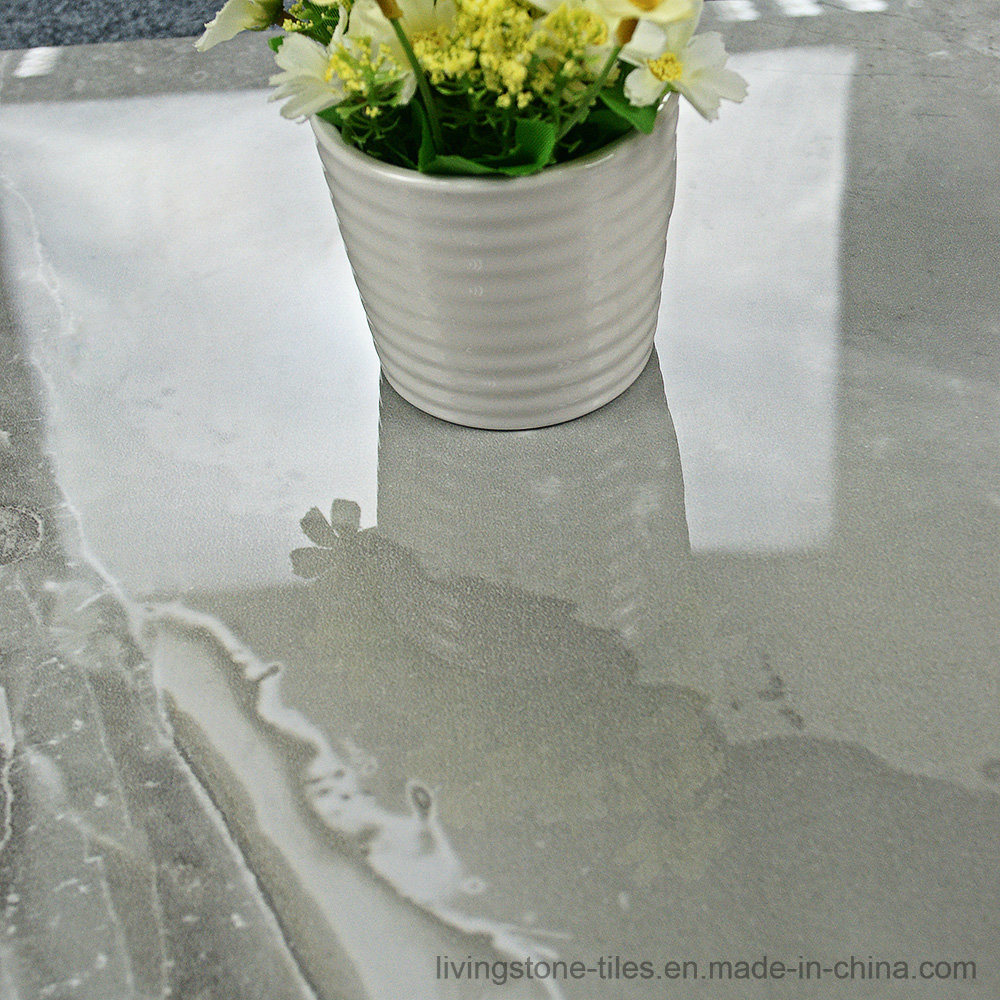 Gray Marble Copy porcelain Stone Tile of 3D Inkjet Floor Tile