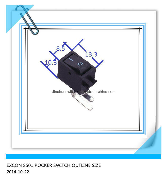 SS01 Bending Terminal Power Rocker Switch for Television STB Control Power Switch