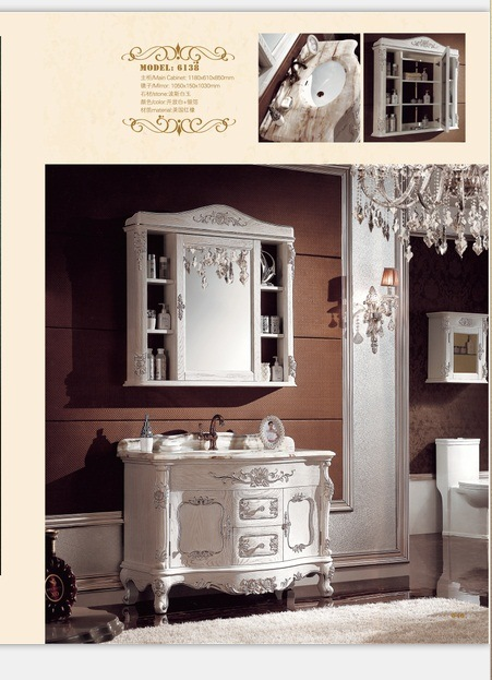 Sanitary Ware Bathroom Cabinet with European Archaize Series (6138)