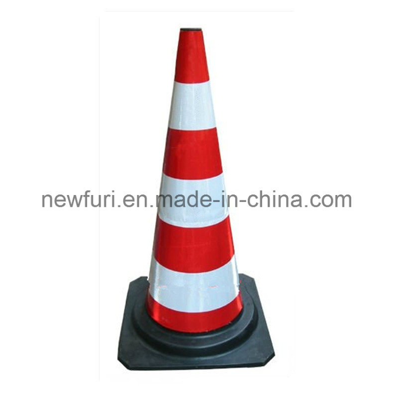 Flexible PE Rubber Traffic Cone for Road Safety
