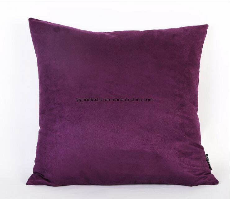 Cushion, Cushion Cover, Back Pillow Made of Microfiber Polyester Suede Fabric