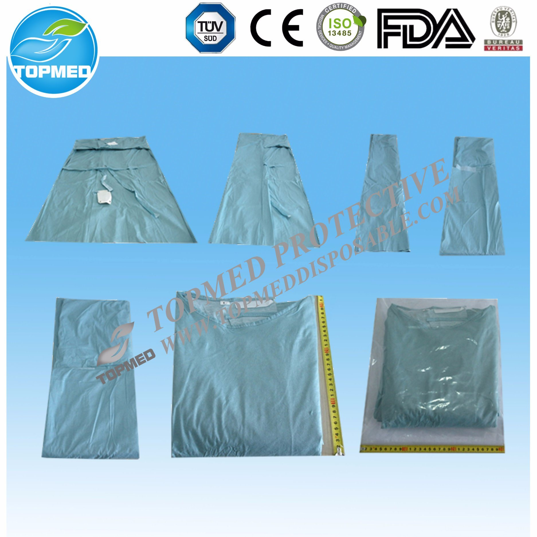 PP+PE Medical Isolation Gown Disposable