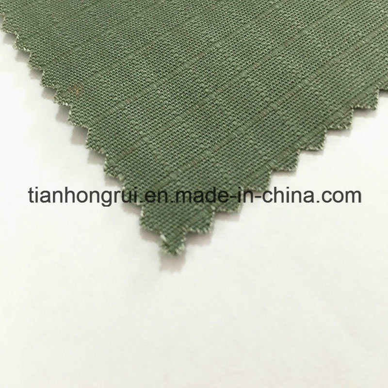 100% Cotton Fabric with Flame Retardant Coated Flocking Fabric for Working Clothes