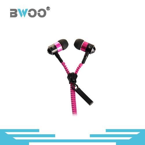 Stereo in-Ear Zipper Earphone MP3 Earphone
