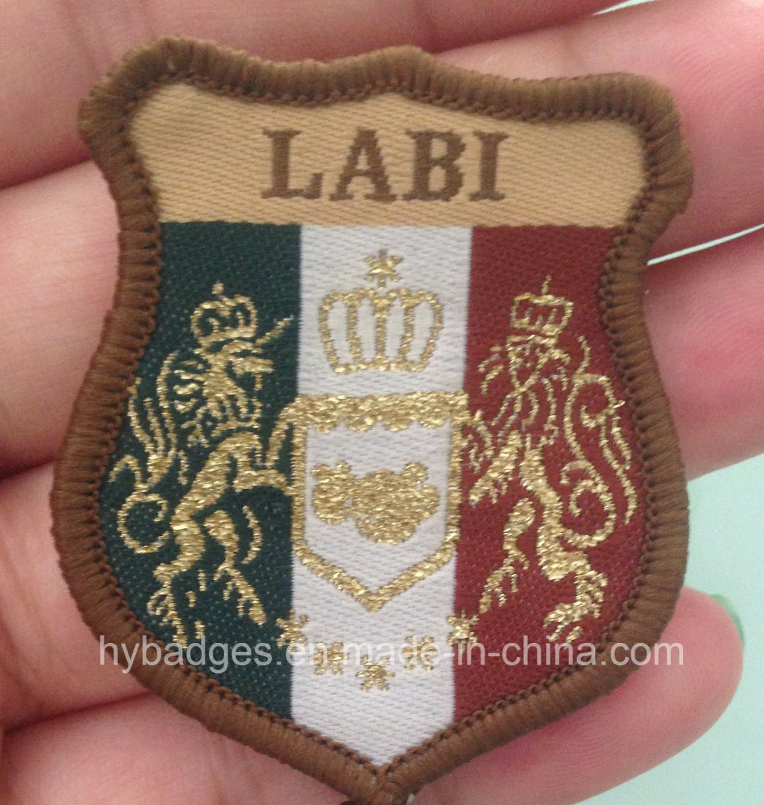 International Lions Embroidery Patch with Hot Film (GZHY-KA-055)