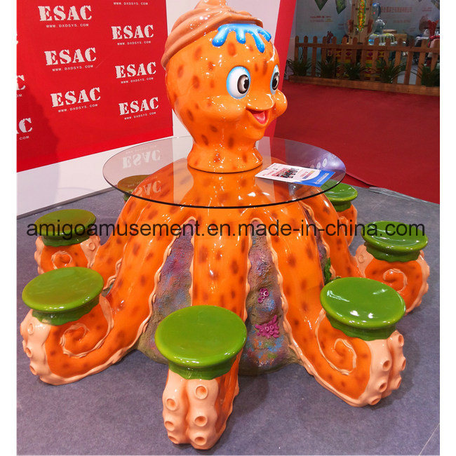 2017 Fiberglass Decoration Table and Chair Set