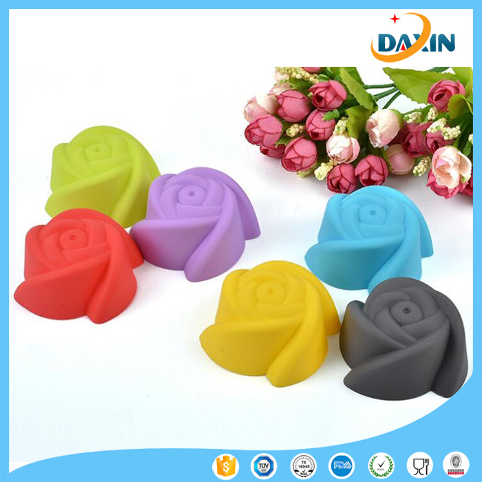 Rose Shape Horse Fern Cup Silicone Cake Mold