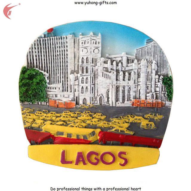 2016 New Scenery Lagos Resin Fridge Magnets for Promotion (YH-FM094)