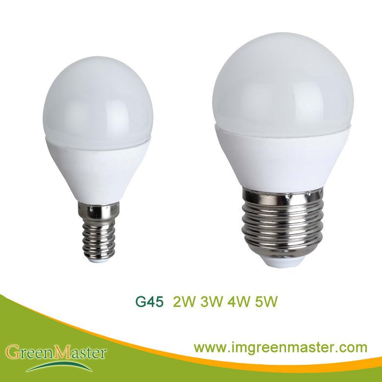 G45 2W 3W 4W 5W Plastic Aluminum LED Bulb