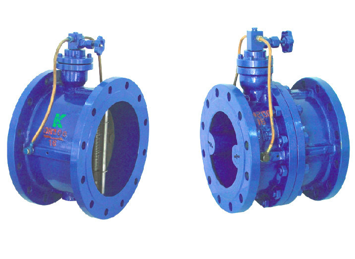 (HH46X/H) Buffer Damper Micro Resistance Slow Shut Butterfly Clapper Non Return Check Valve
