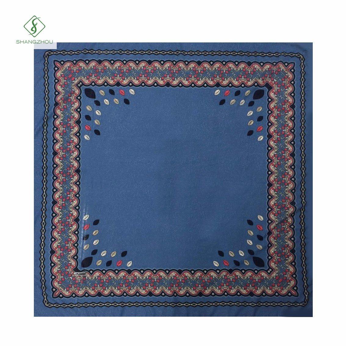 Hot Sale Fashion Square Scarf French Cotton Printed Muslim Hijab