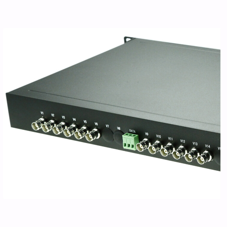 12-Channel Video and 1 Reverse RS485 Video Transceiver Optic Transceiver
