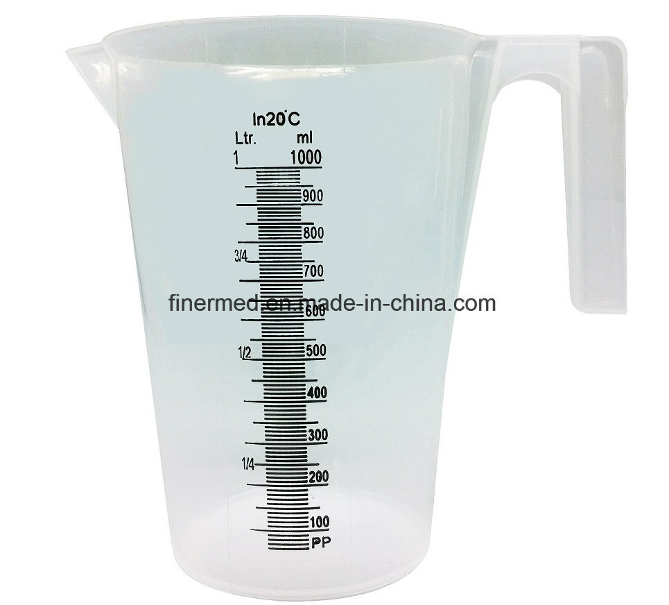 5L Transparent Medical Laboratory Plastic Measuring Mug