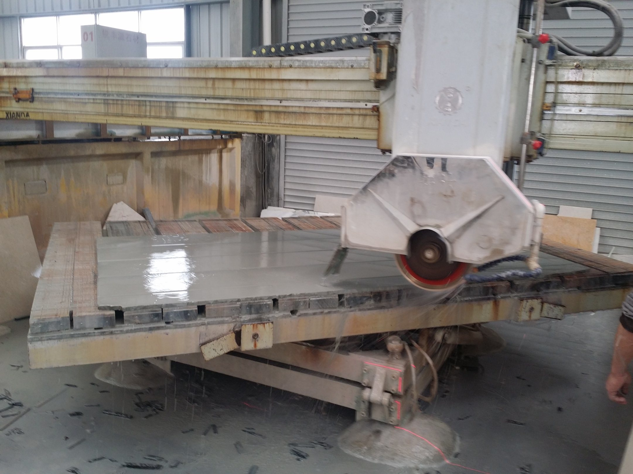 Zdqj-450 Infrared Automatic Stone Slab Bridge Saw Cutting Machinery
