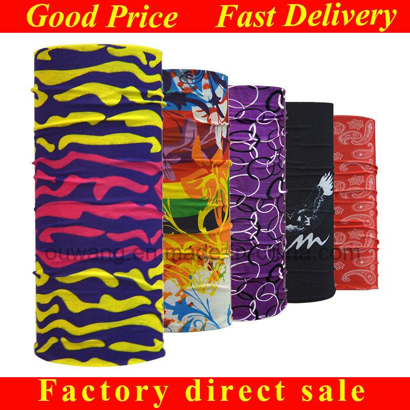 Hot Fashion Multi-Purpose Custom Printed Tube Magic Elastic Headwear