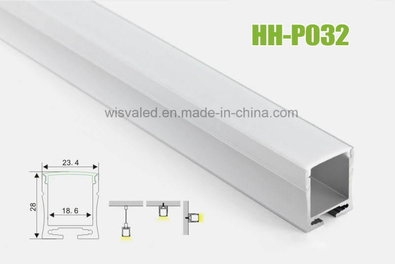 Hh-P032 LED Aluminum Profile for LED Linear Lights