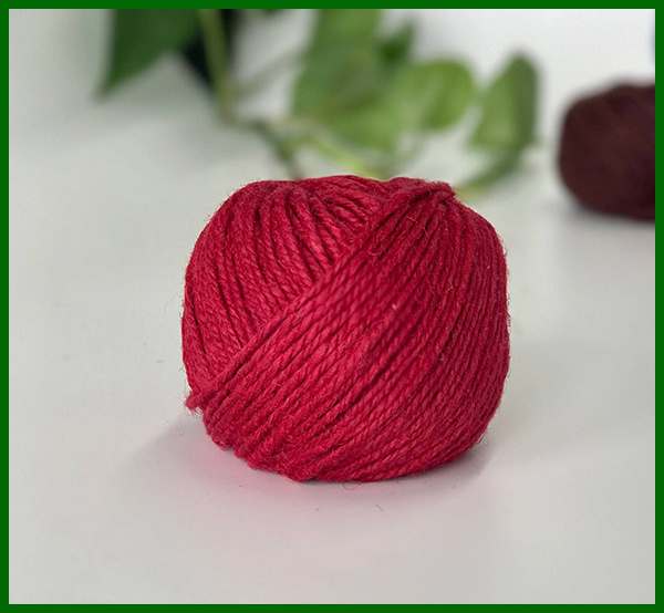 Eco Dyed Jute Fiber Yarn (Red)