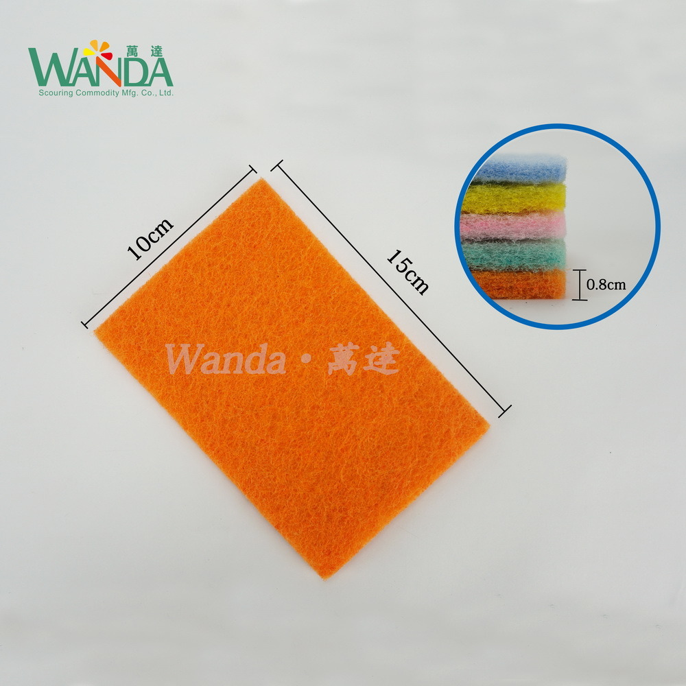 Colorful Non-Abrasive Kitchen Cleaning Products Scouring Pad