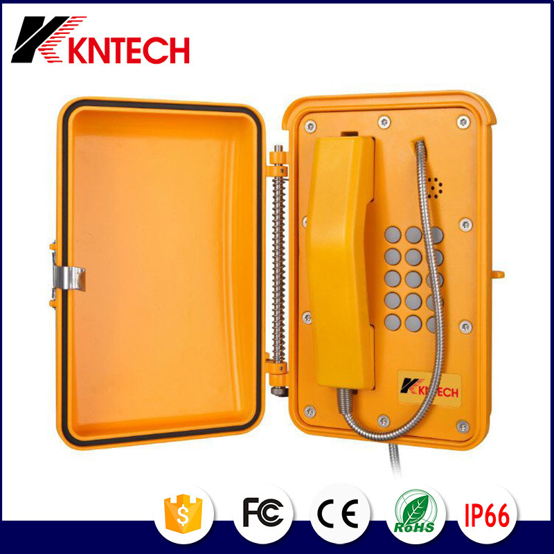 SIP Phone Self Checking Industrial Weatherproof Telephone System Kntech Knsp-19
