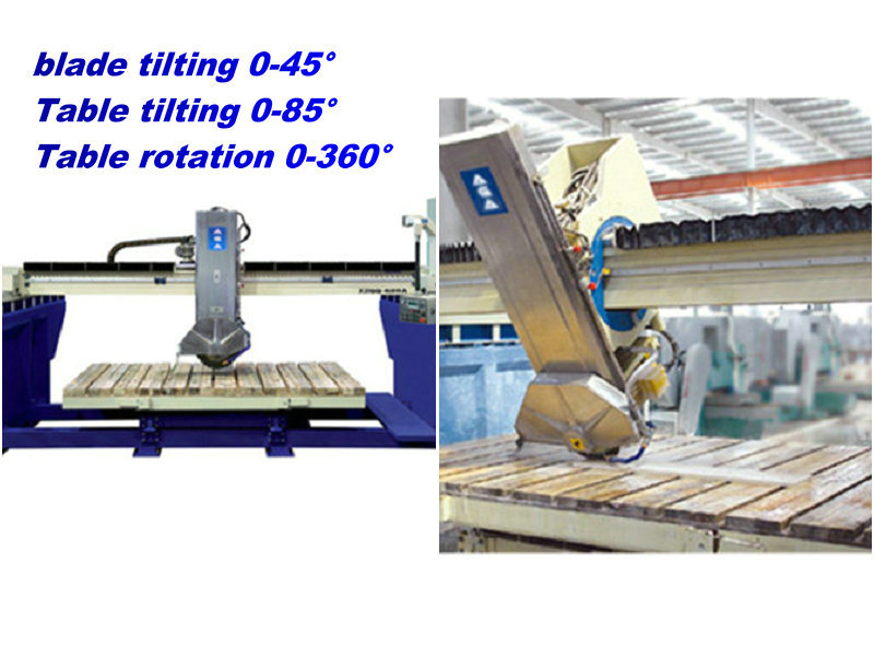 Stone CNC Bridge Cutting Machine for Sawing Granite Tile/Slabs