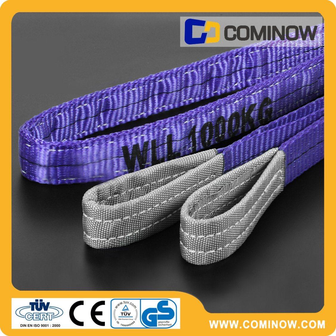 Polyester Webbing Slings / Flat Web Sling / Double Ply Webbing Sling 1000kg