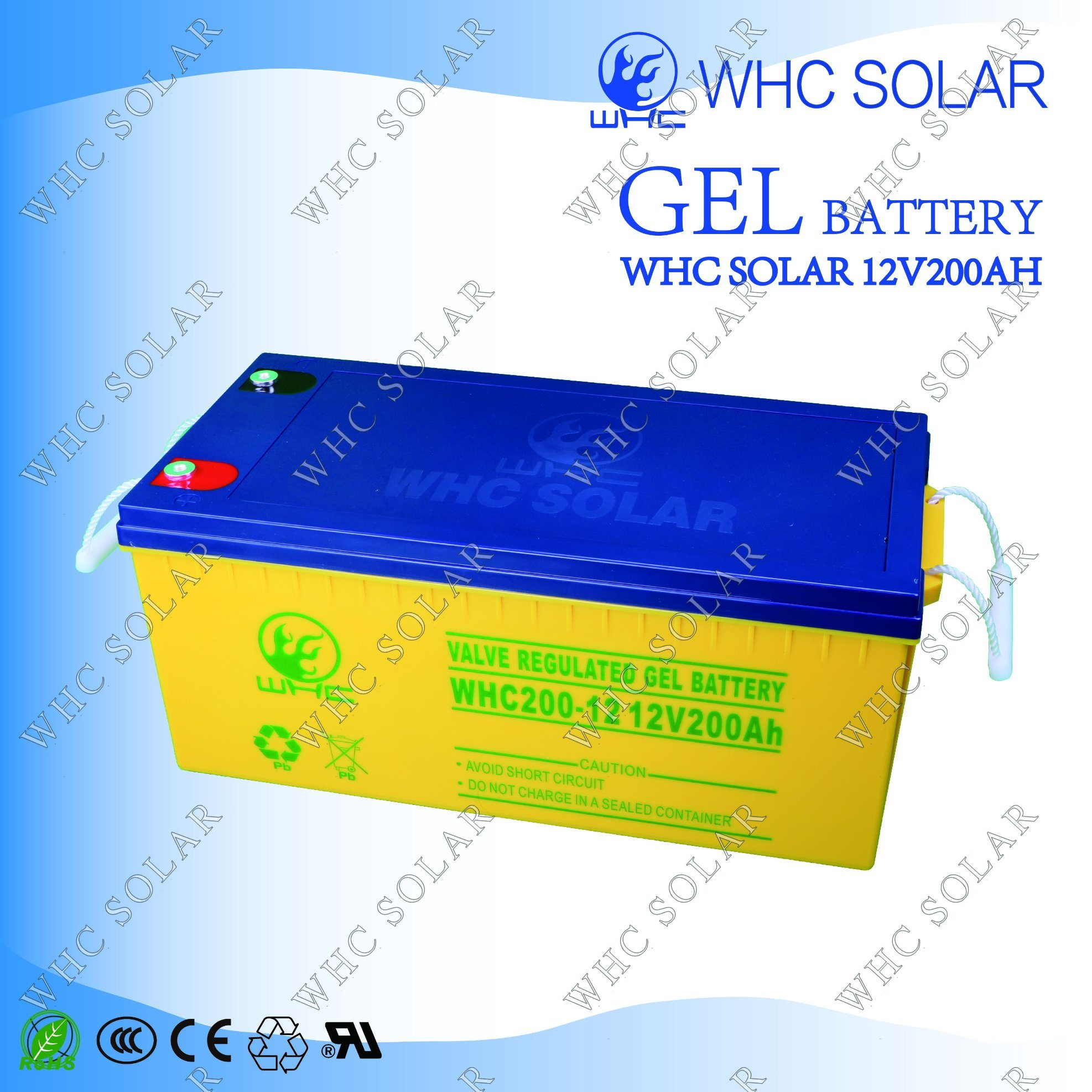 Solar Power High Capacity 12V200ah Solar Battery