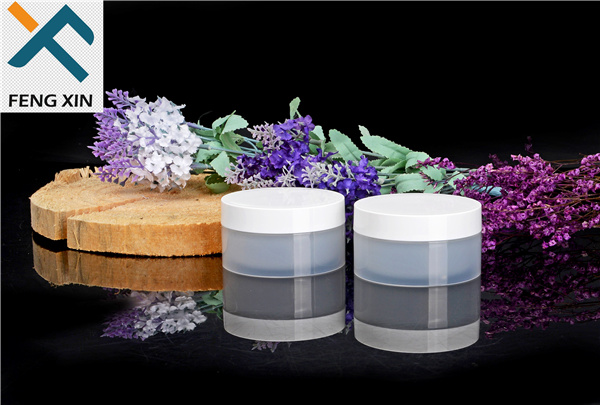 Skin Care Cream Use and Acrylic Plastic Type Small Cosmetic Pet Jars 30g