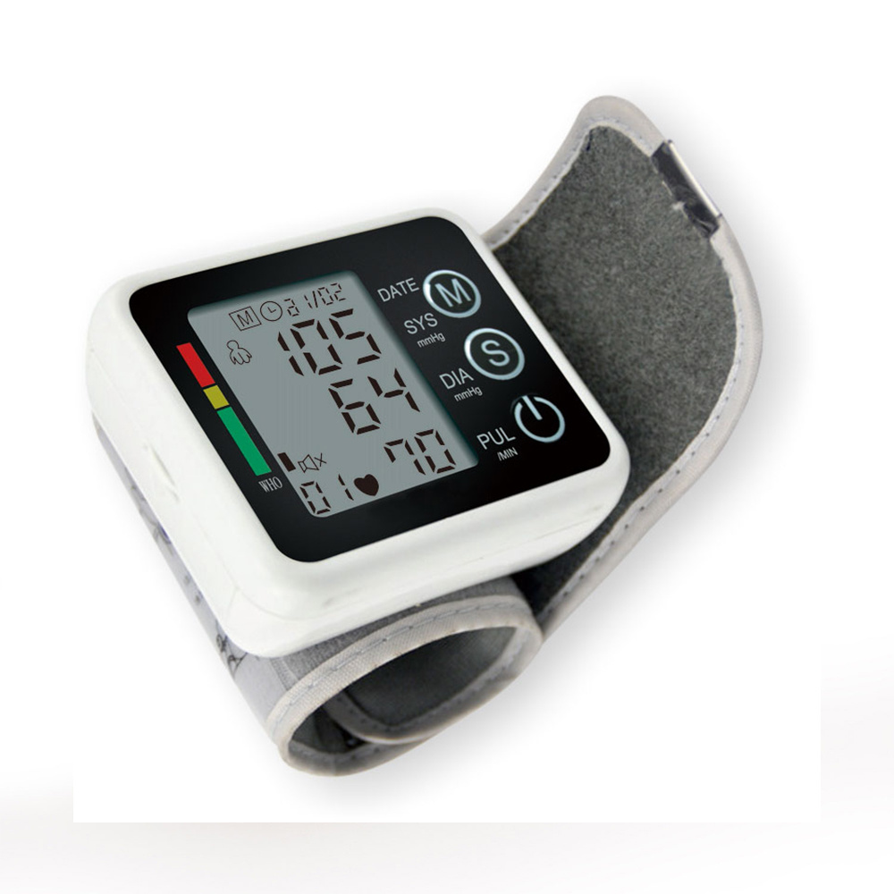 Automatic Tonometer Portale Digital Wrist Blood Pressure Monitor