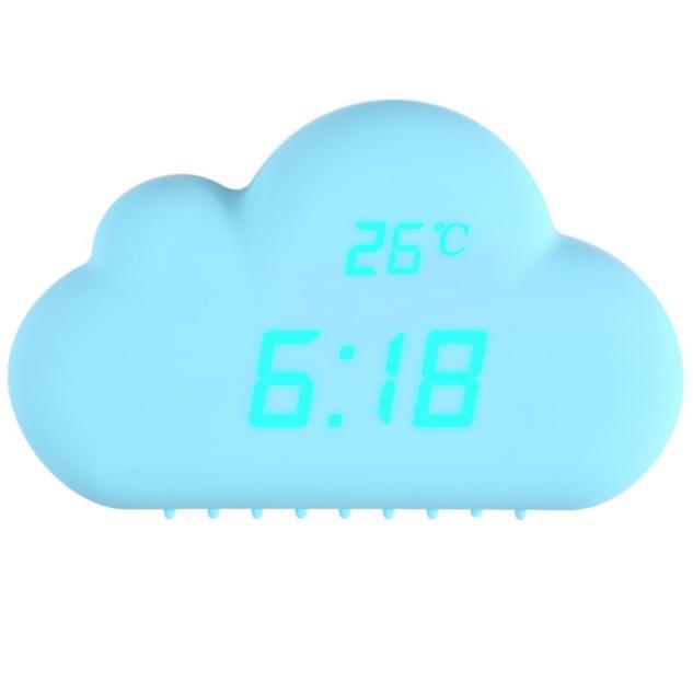 Digital Clock Sound Control Alarm Time Temperature Date Cloud Clock