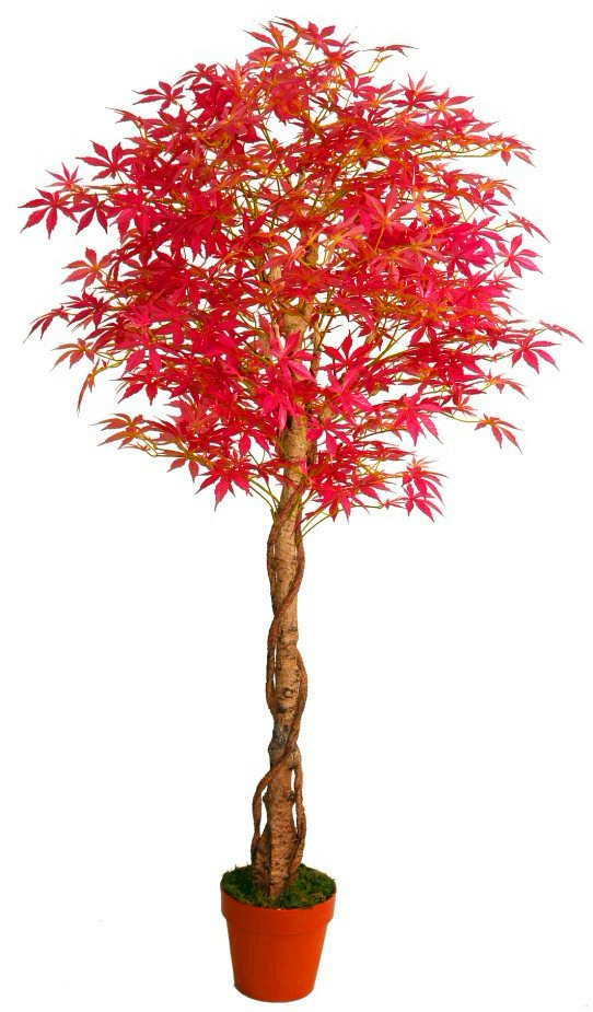 Garden Decoration Artificial Red Maple Tree for Outside or Inside