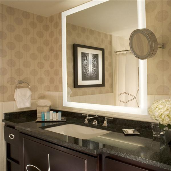 Custom Us Hotel Bathroom Frameless LED Lighted Backlit Mirror