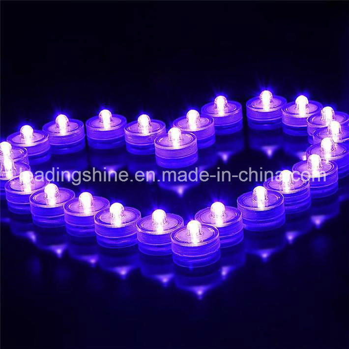 Cr2032 Flower Shaped Submersible Candle Tea Light