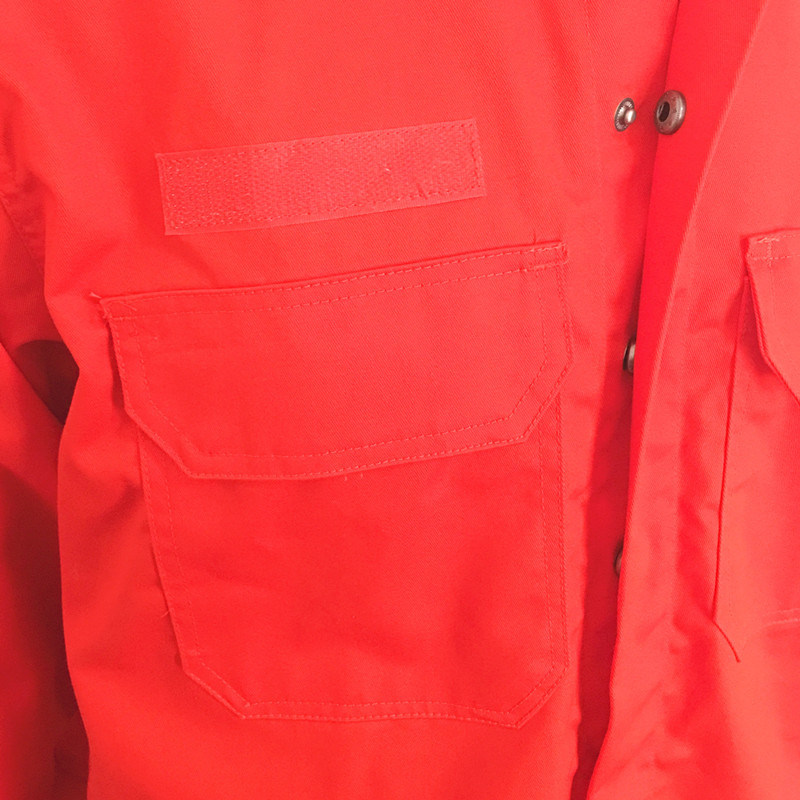Twill Yard Fireproof Proban Hi-Vis Garment Workwear with Zipper and Magic Tape