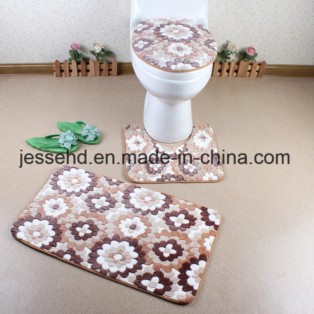 High Quality Bathroom Mat/Toilet Mat/Bath Mat Set with PVC Mesh Backing