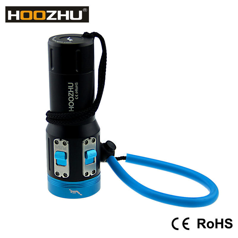 Hoozhu V13 Dive Light Underwater 120m LED Light for Diving Video Light